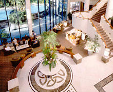 Birds-eye view of the foyer at Legends Hotel